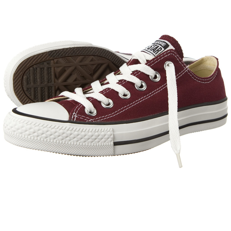 Converse-Chucks-All-Star-White-M9691-35-53-Weinrot-Neu-Klassiker