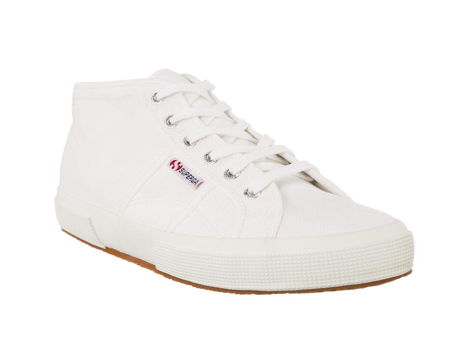 Superga Sneaker Scarpe 2754 COTU Mid Cut BIANCO WHITE TG. 37